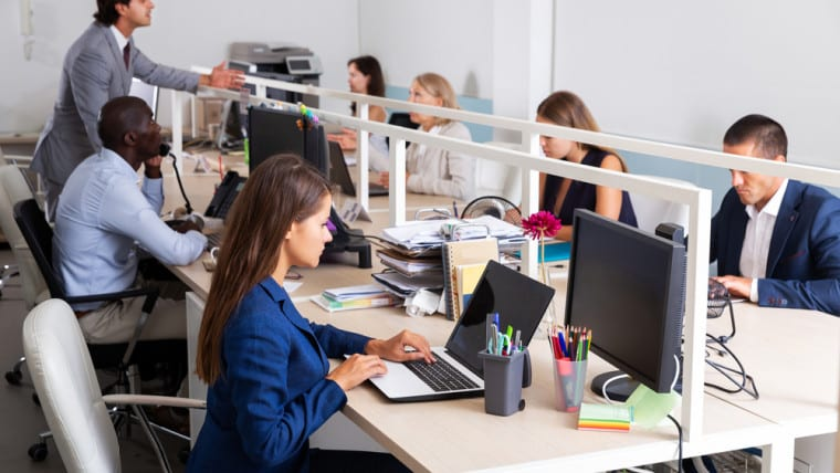 How does office space in Mansfield affect productivity?
